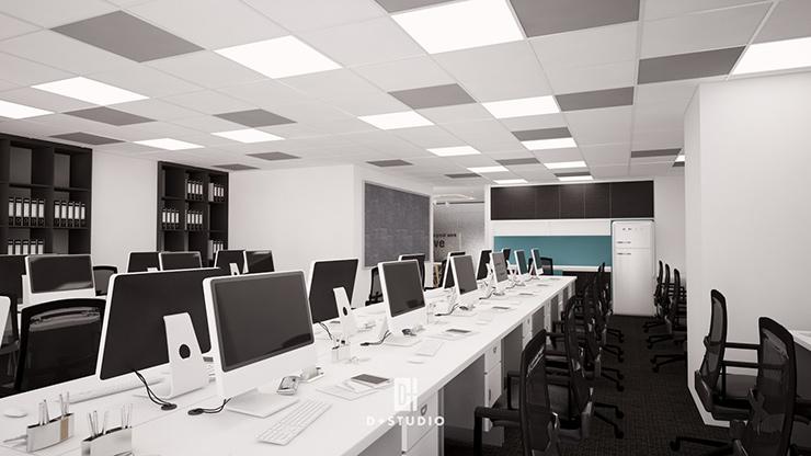 mẫu thiết kế văn phòng làm việc hiện đại diện tích tầm trung của công ty KMCC