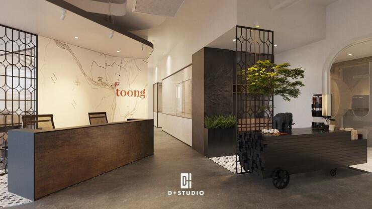 mẫu thiết kế văn phòng hiện đại của toong royal square