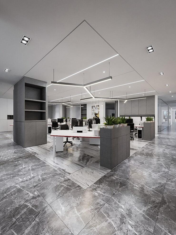 mẫu thiết kế văn phòng mở đẹp công ty txd