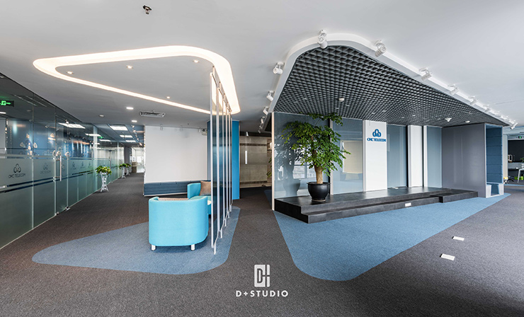 mẫu văn phòng hiện đại trên 500m2