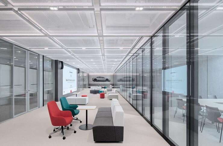 thiết kế không gian văn phòng hiện đại