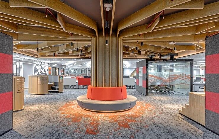 thiết kế không gian văn phòng sáng tạo
