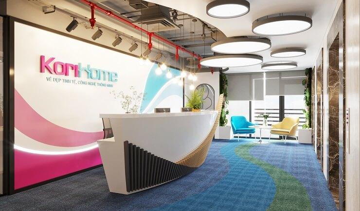 thiết kế nội thất sảnh văn phòng