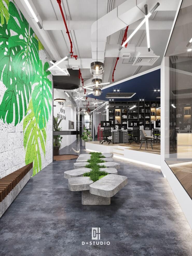 thiết kế văn phòng hiện đại ecoland