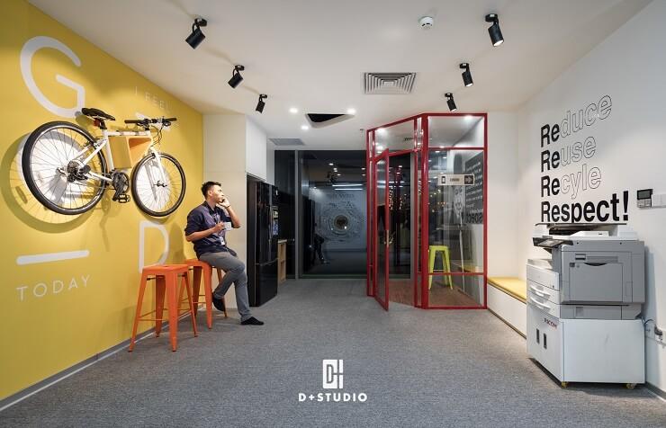 thiết kế văn phòng hiện đại công ty taj