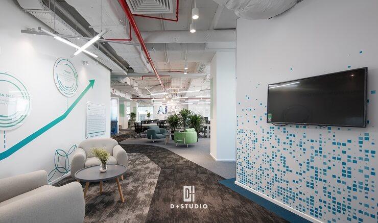 thiết kế văn phòng mở cinnamon