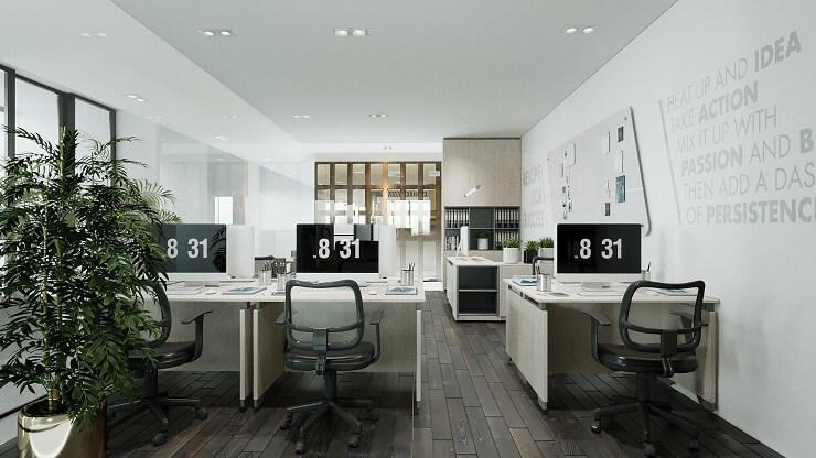 tiêu chuẩn thiết kế văn phòng hợp phong thủy