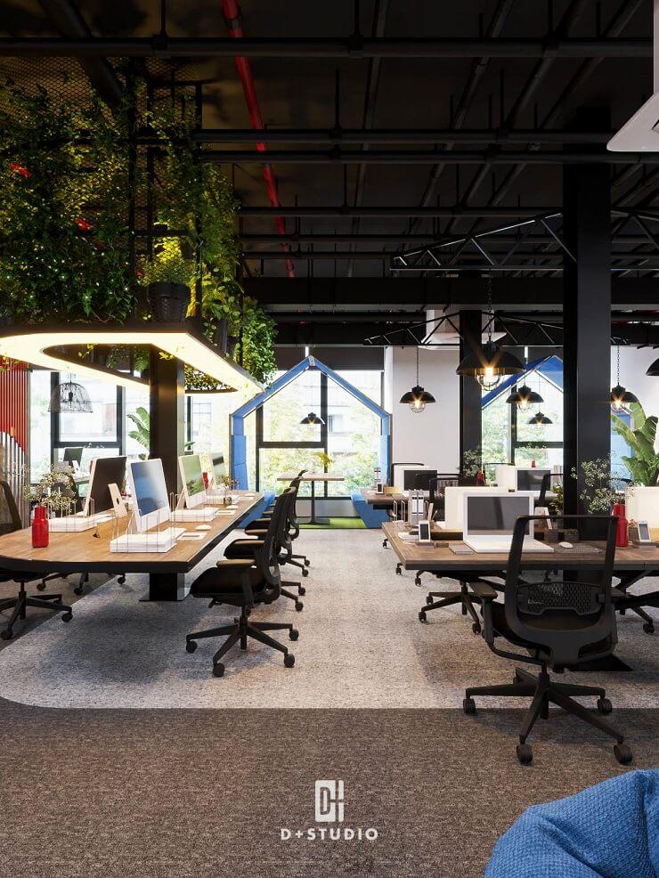 tiêu chuẩn ứng dụng không gian xanh trong văn phòng