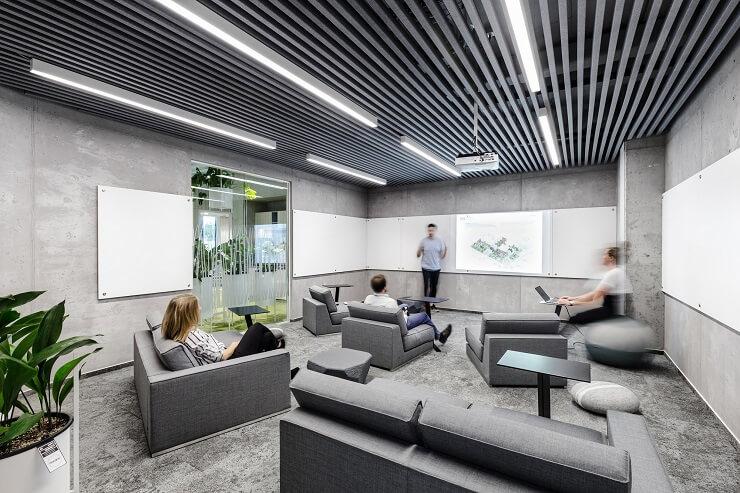 bố trí nội thất phòng họp hiện đại