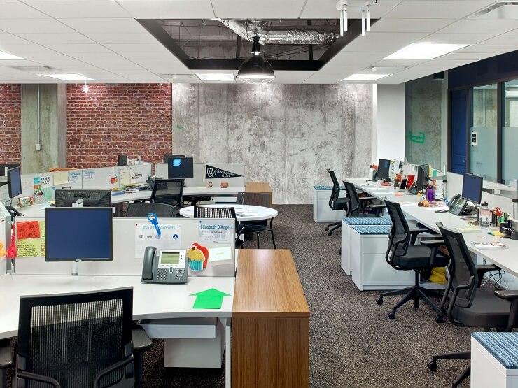 bố trí văn phòng làm việc thoải mái linh hoạt