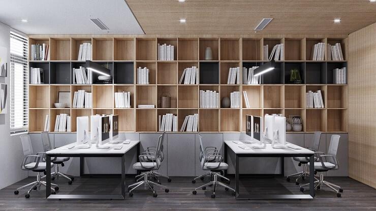 bố trí tủ tài liệu văn phòng