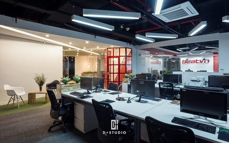 bố trí văn phòng đảm bảo tiêu chuẩn âm thanh ánh sáng an toàn