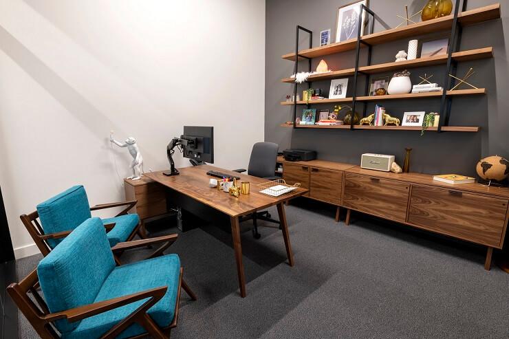 mẫu bố trí nội thất phòng giám đốc nhỏ