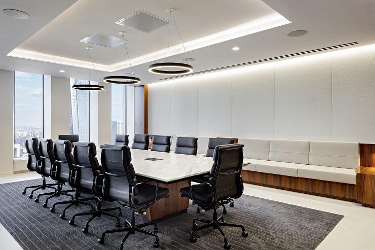 mẫu bố trí nội thất phòng họp đẹp