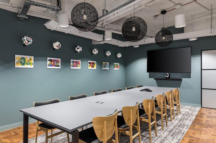 mẫu bố trí nội thất phòng họp sáng tạo