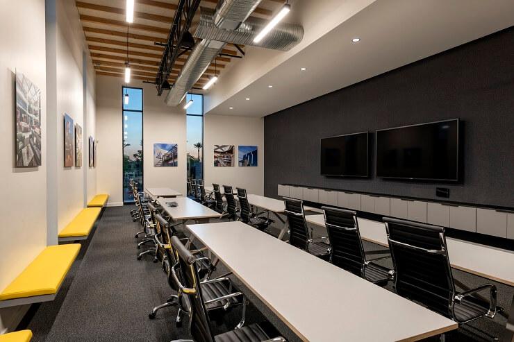 mẫu bố trí phòng họp hiện đại