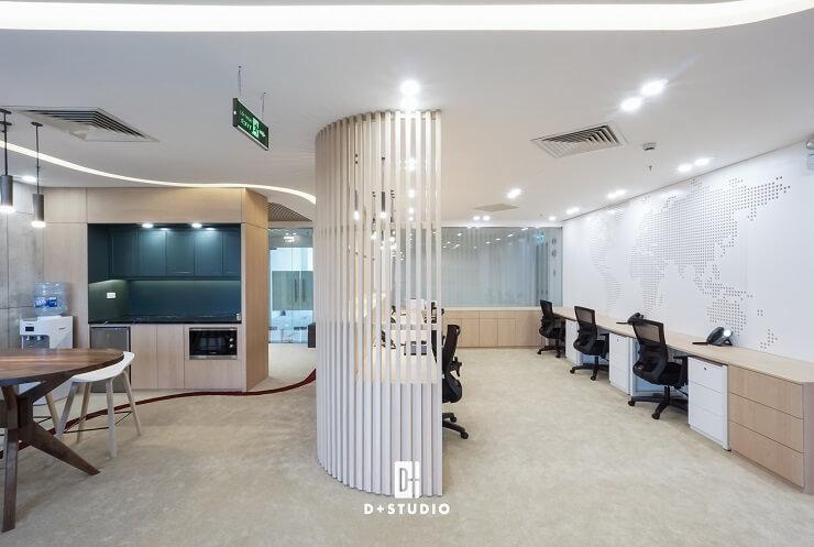 mẫu thiết kế phòng làm việc công sở nhỏ