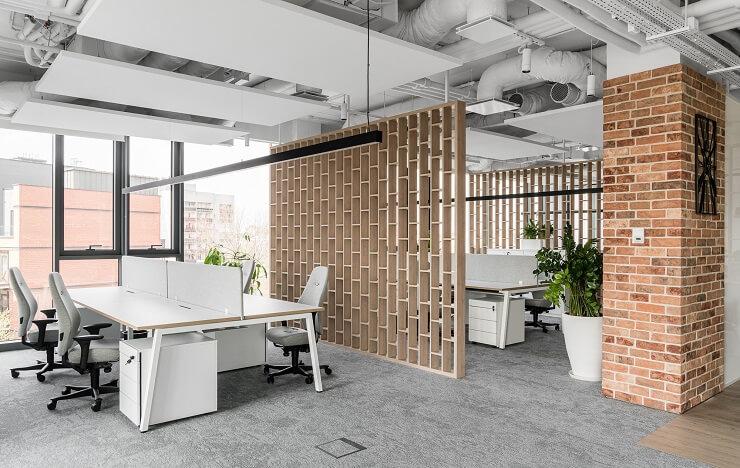 phong cách thiết kế nội thất văn phòng rustic