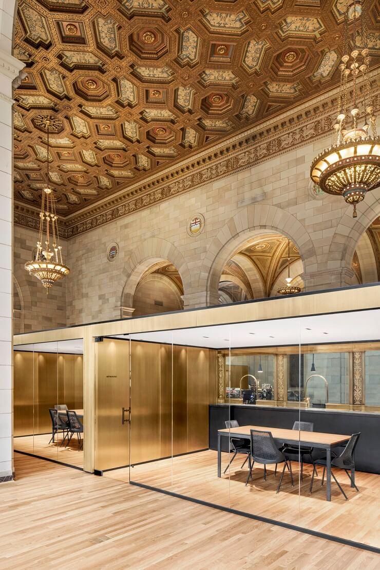 phong cách thiết kế nội thất văn phòng tân cổ điển