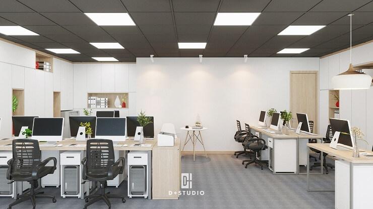 sắp xếp bố trí nội thất văn phòng phù hợp