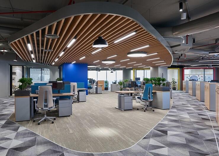 thiết kế hành lang văn phòng đẹp