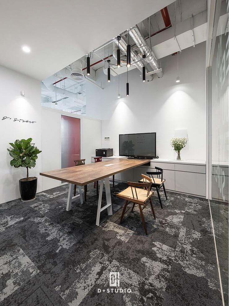 thiết kế khu chờ khách kết hợp phòng họp