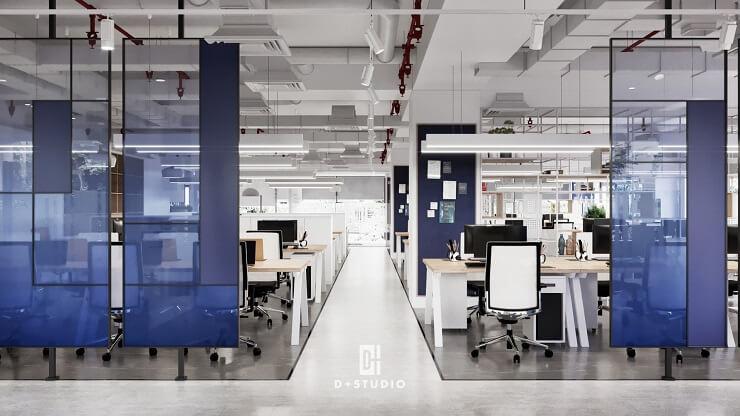thiết kế khu làm việc văn phòng austdoor