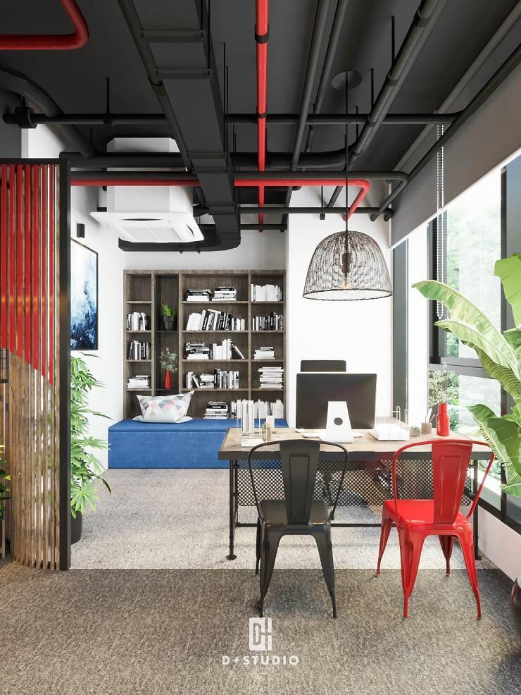 thiết kế nội thất phòng giám đốc công ty bci
