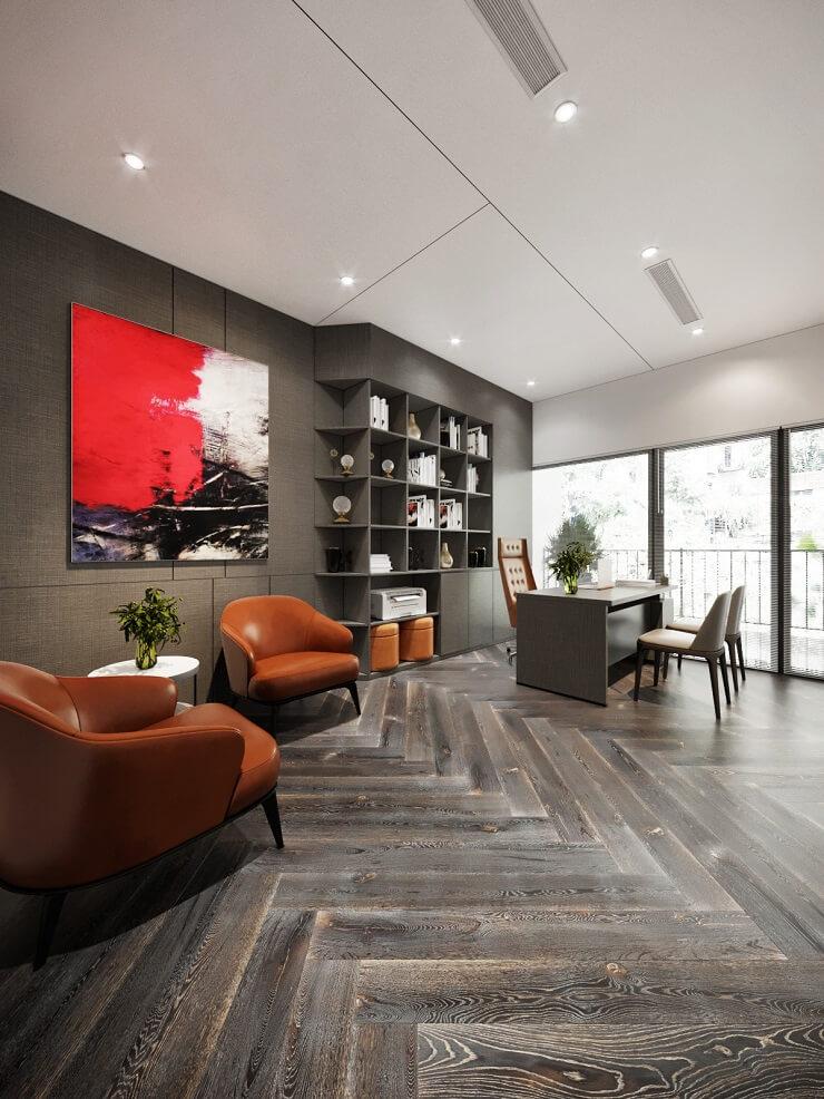 phong cách thiết kế nội thất văn phòng cổ điển