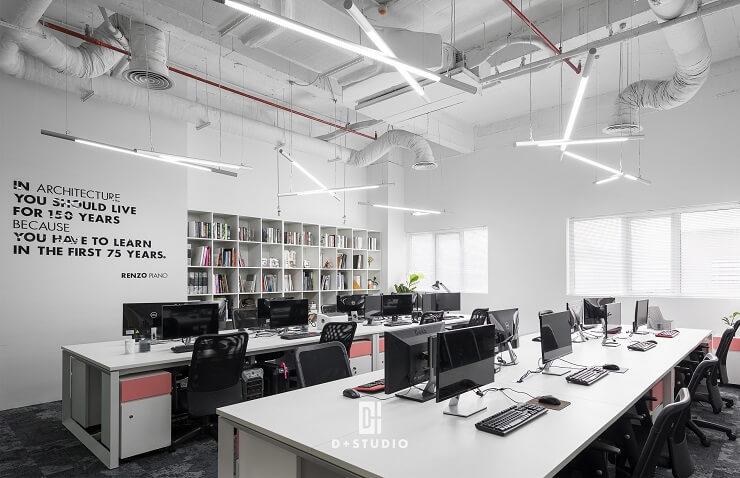 thiết kế phòng làm việc công ty d+ studio