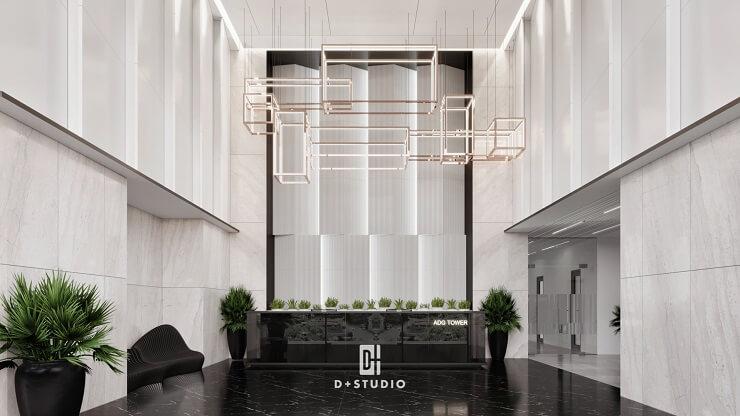 thiết kế tiền sảnh văn phòng austdoor