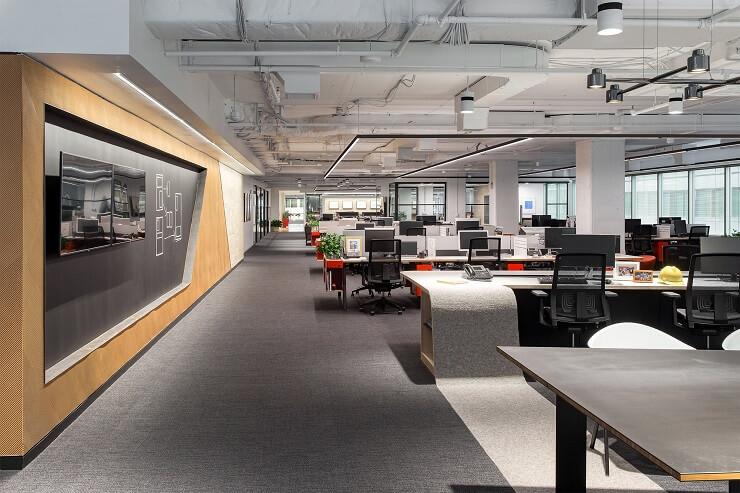 thiết kế vách ngăn văn phòng đẹp