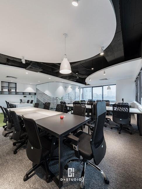 thiết kế văn phòng 200m2 hiện đại tiện nghi