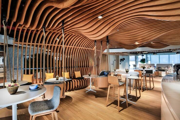 thiết kế văn phòng hình khối sáng tạo