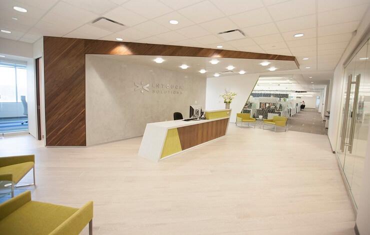 thiết kế văn phòng hình học sáng tạo