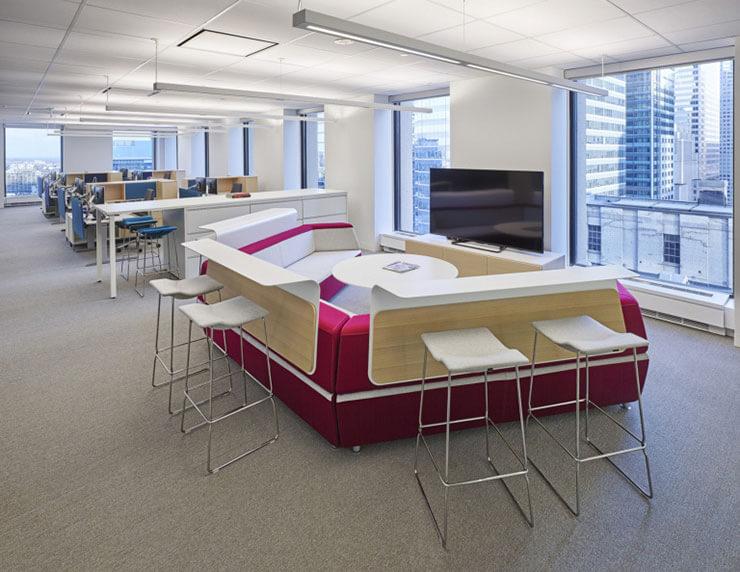 Thiết kế mở là một lựa chọn hoàn hảo dành cho các văn phòng có diện tích nhỏ hẹp