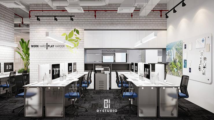 Không gian làm việc ở Ecoland được thiết kế rất khoa học và đẹp mắt