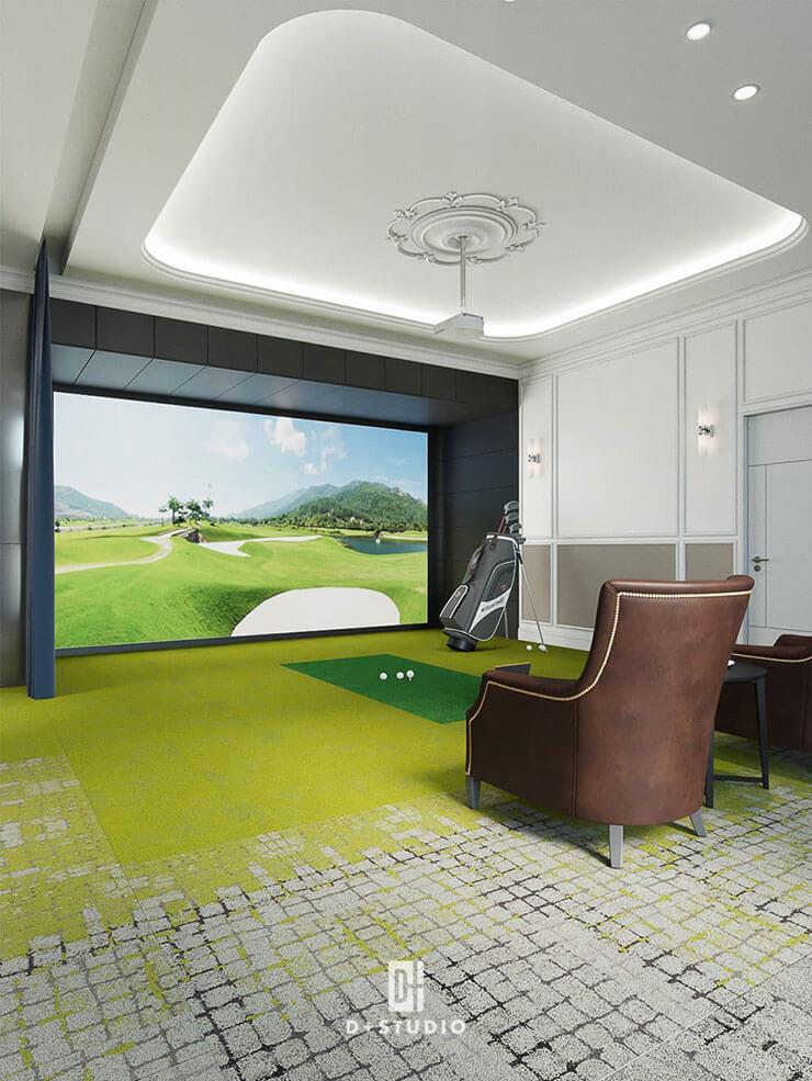 Sân golf 3D hiện đại là nơi giải tỏa áp lực căng thẳng trong công việc cho người lãnh đạo.