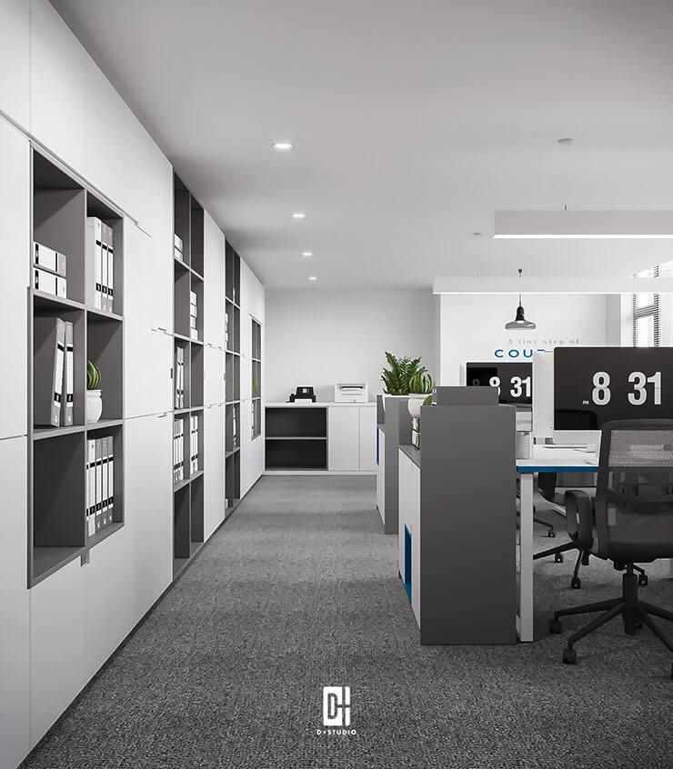 Tủ tài liệu âm tường sẽ giúp tiết kiệm diện tích văn phòng một cách tối đa