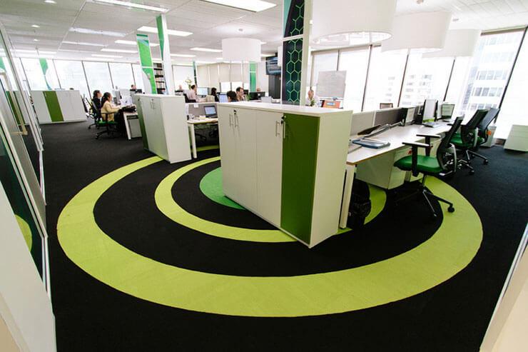 Văn phòng có 2 tông màu chủ đạo được kết hợp tạo nên cảm quan vô cùng đẹp mắt