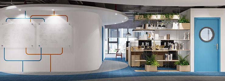Văn phòng được bố trí và thiết kế giống như boong tàu thủy