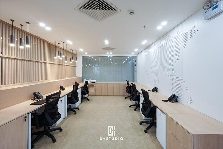 Mẫu văn phòng theo phong cách tối giản, giúp tối ưu hóa công suất làm việc của nhân viên