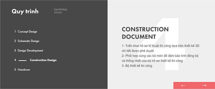 Bước 4: Construction Document
