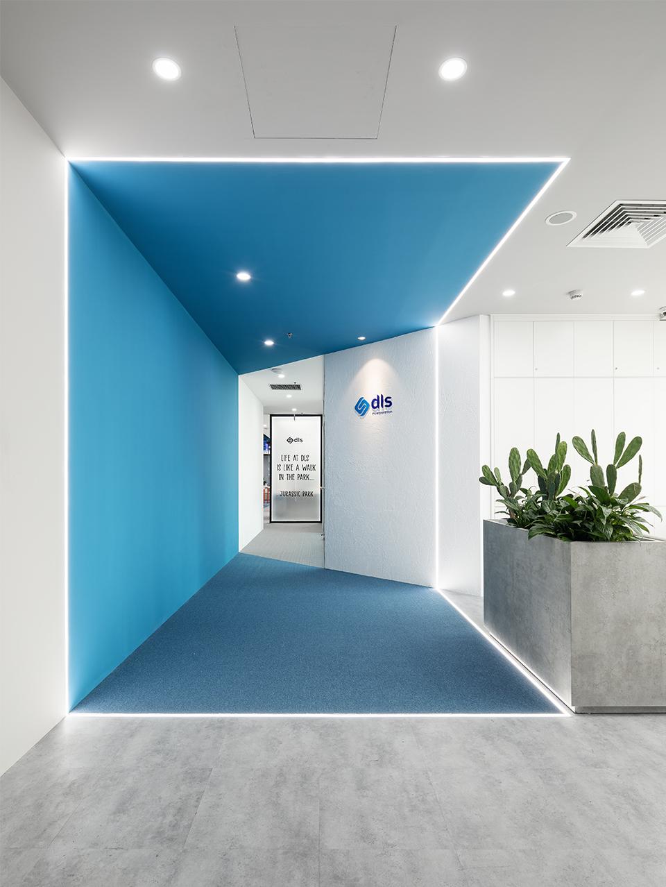 Lối vào sảnh văn phòng công ty DLS