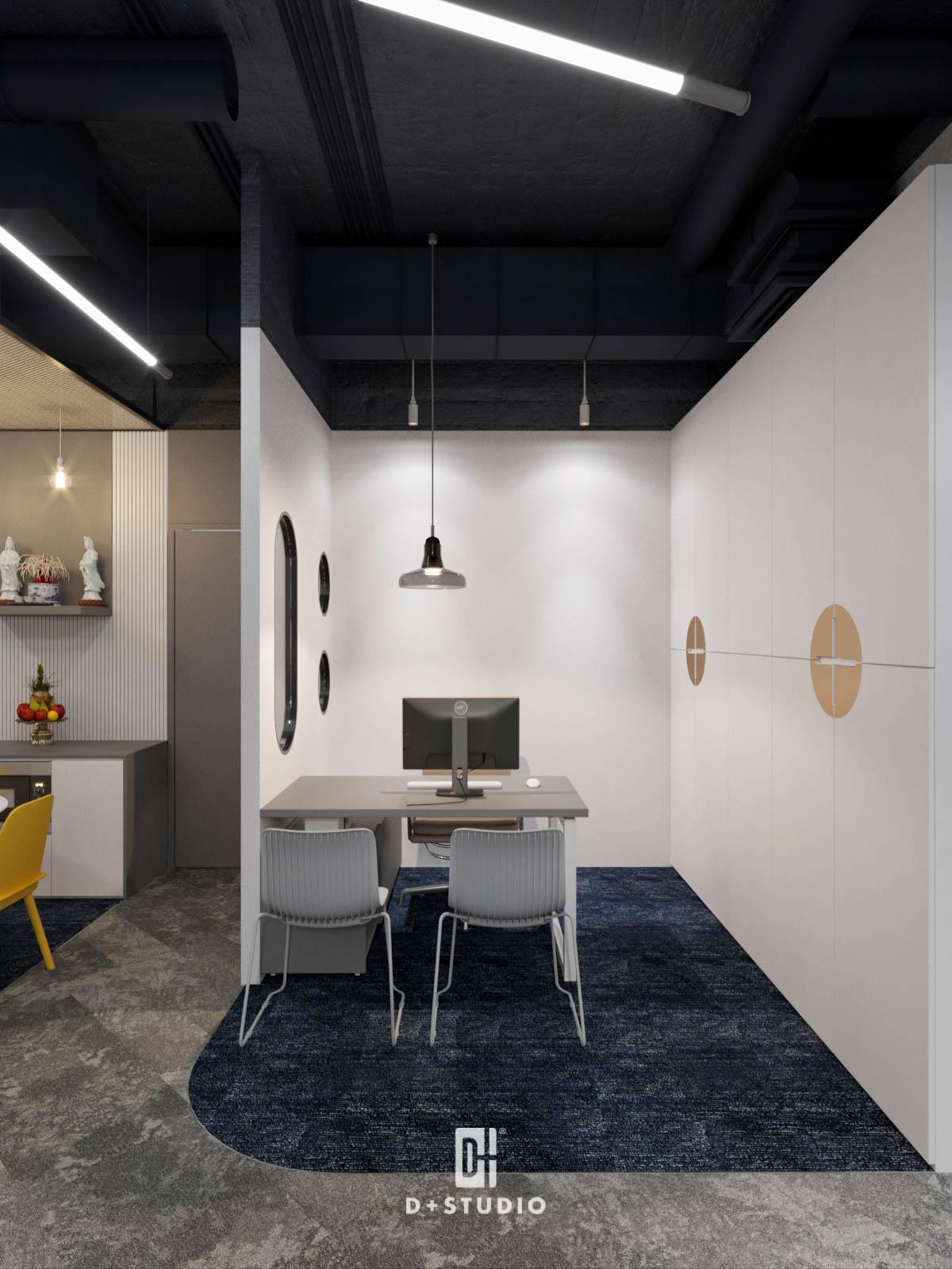 Khu vực làm việc cá nhân theo phong cách hầm trú ẩn tại văn phòng