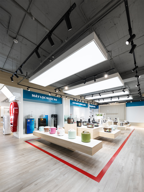 Thiết kế showroom SUNHOUSE với phong cách sang trọng, tinh tế tại Hà Nội