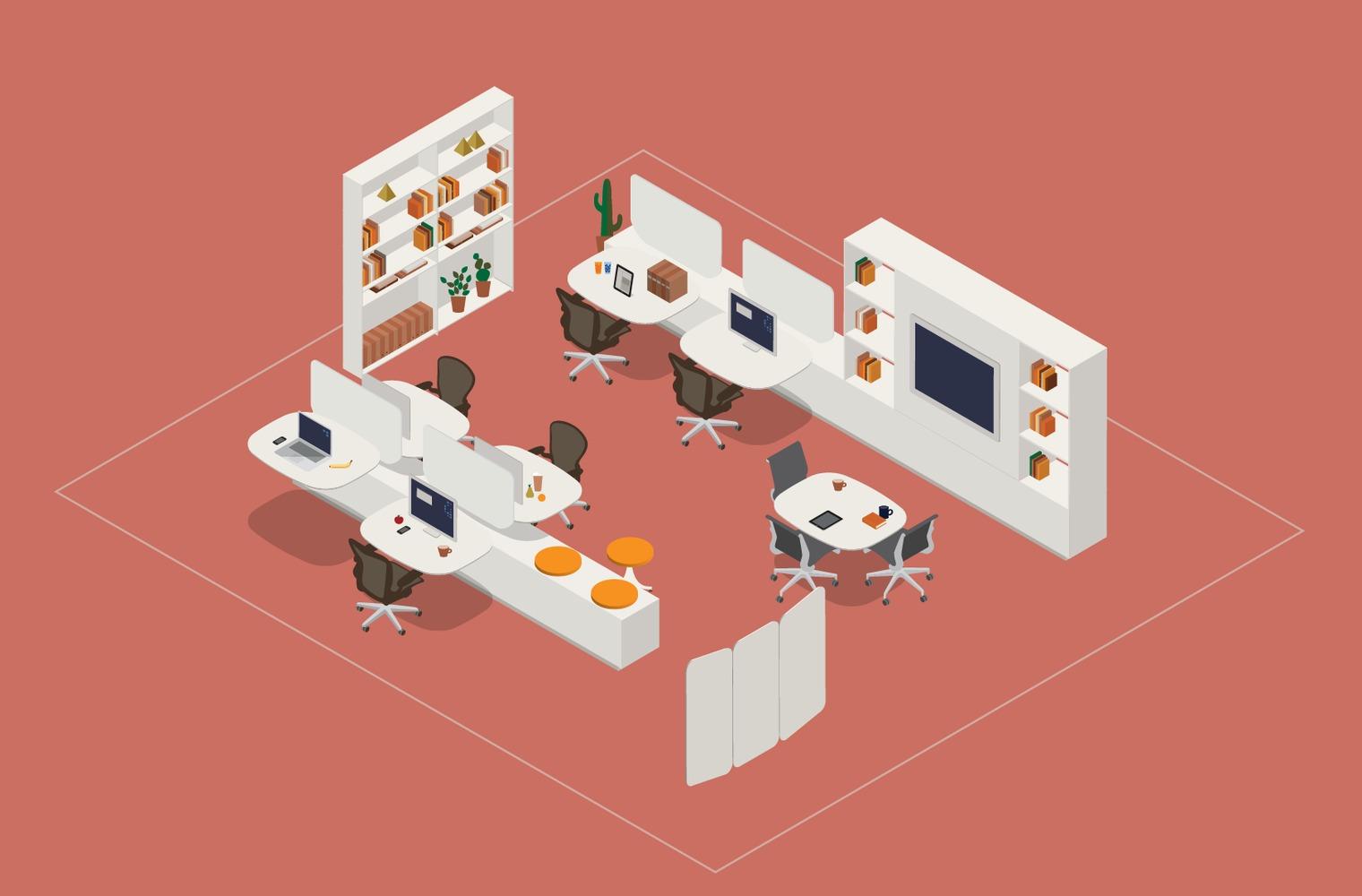 Thiết kế không gian làm việc nhóm hiệu quả với mô hình Club House