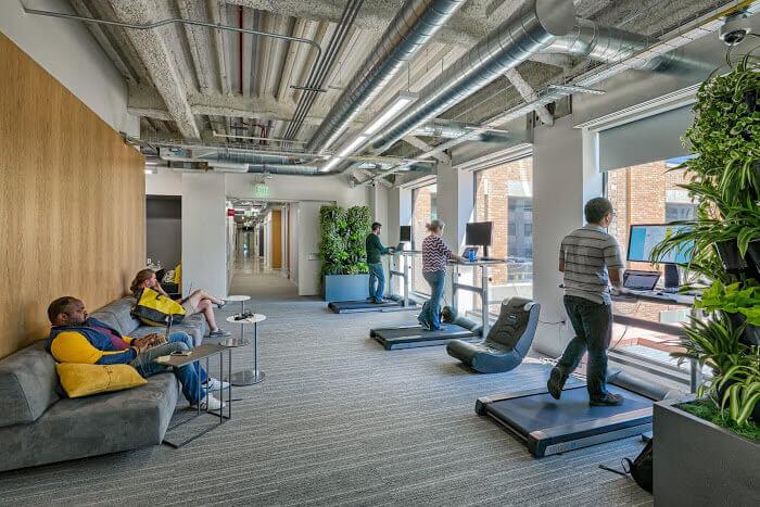 Mô hình văn phòng kết hợp không gian làm việc và không gian sống