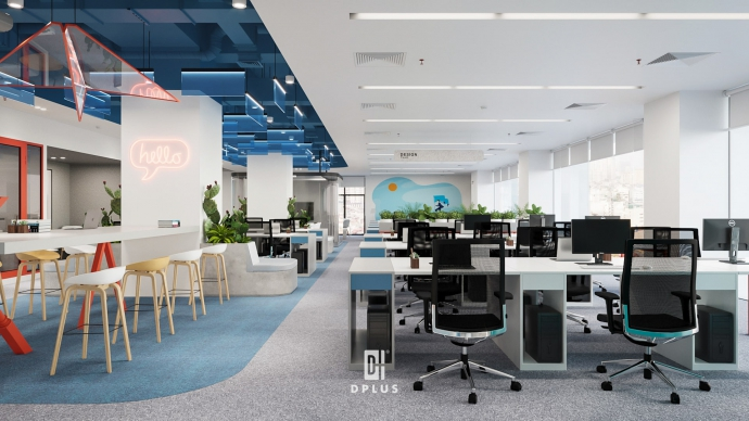 Thiết kế 3D văn phòng sáng tạo