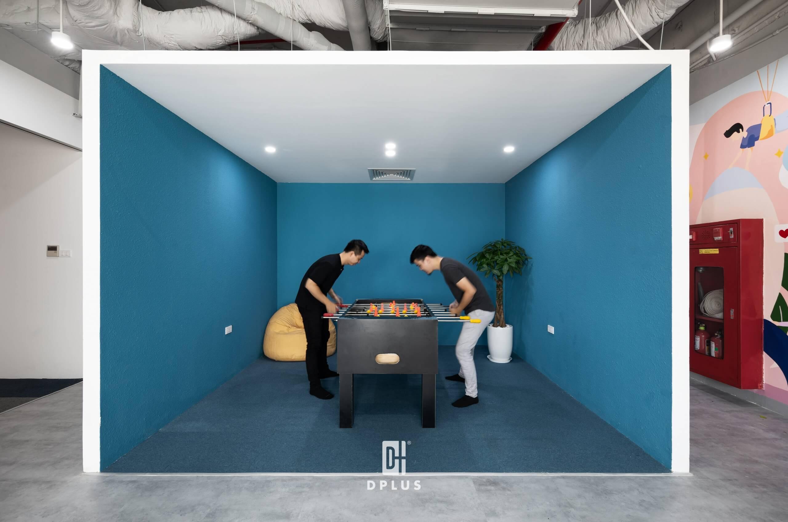 Khu giải trí tại một không gian làm việc sáng tạo.